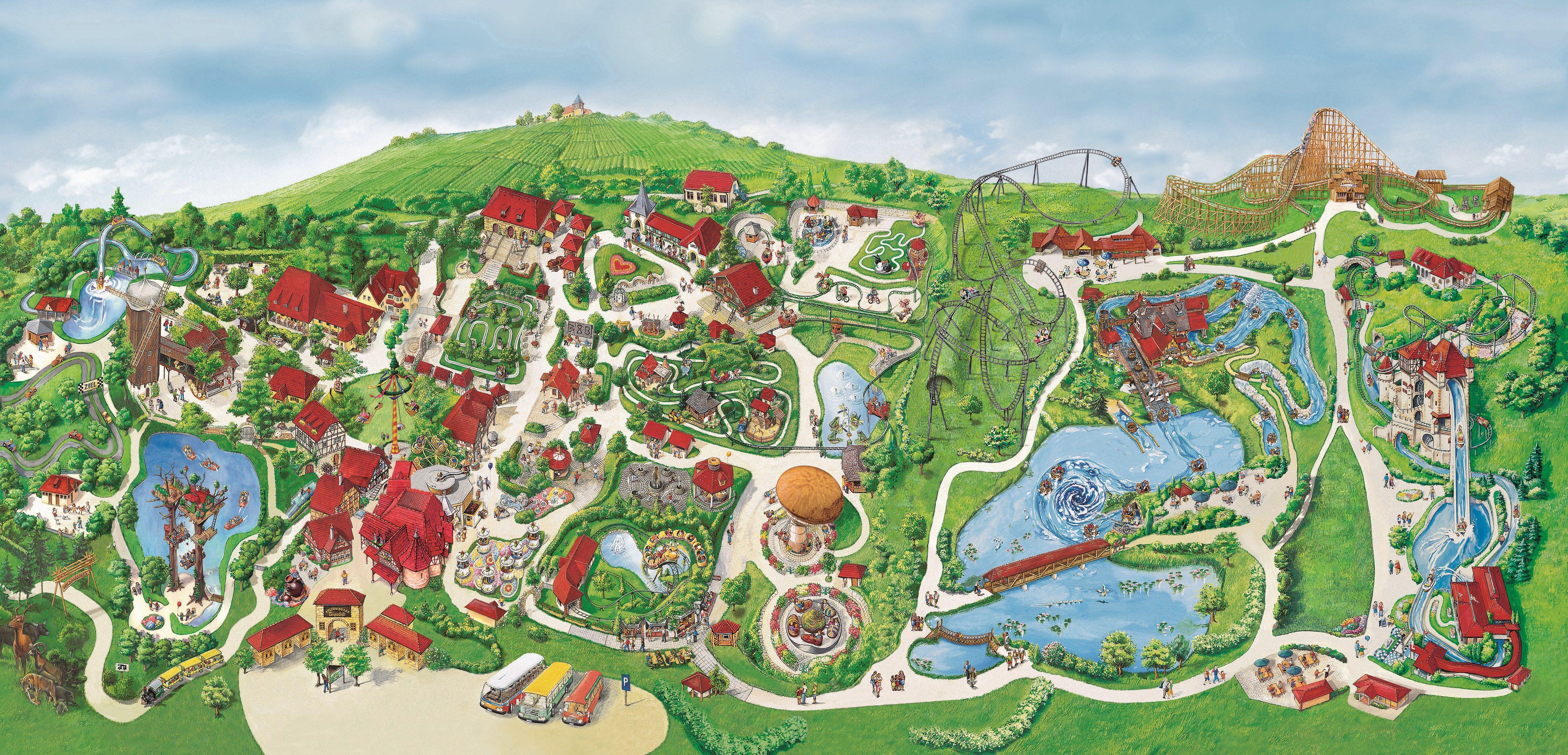 Parkplan Erlebnispark Tripsdrill