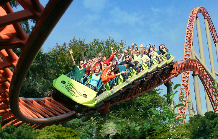Foto: HolidayPark GmbH, Expedition GeForce und Donnerfluss