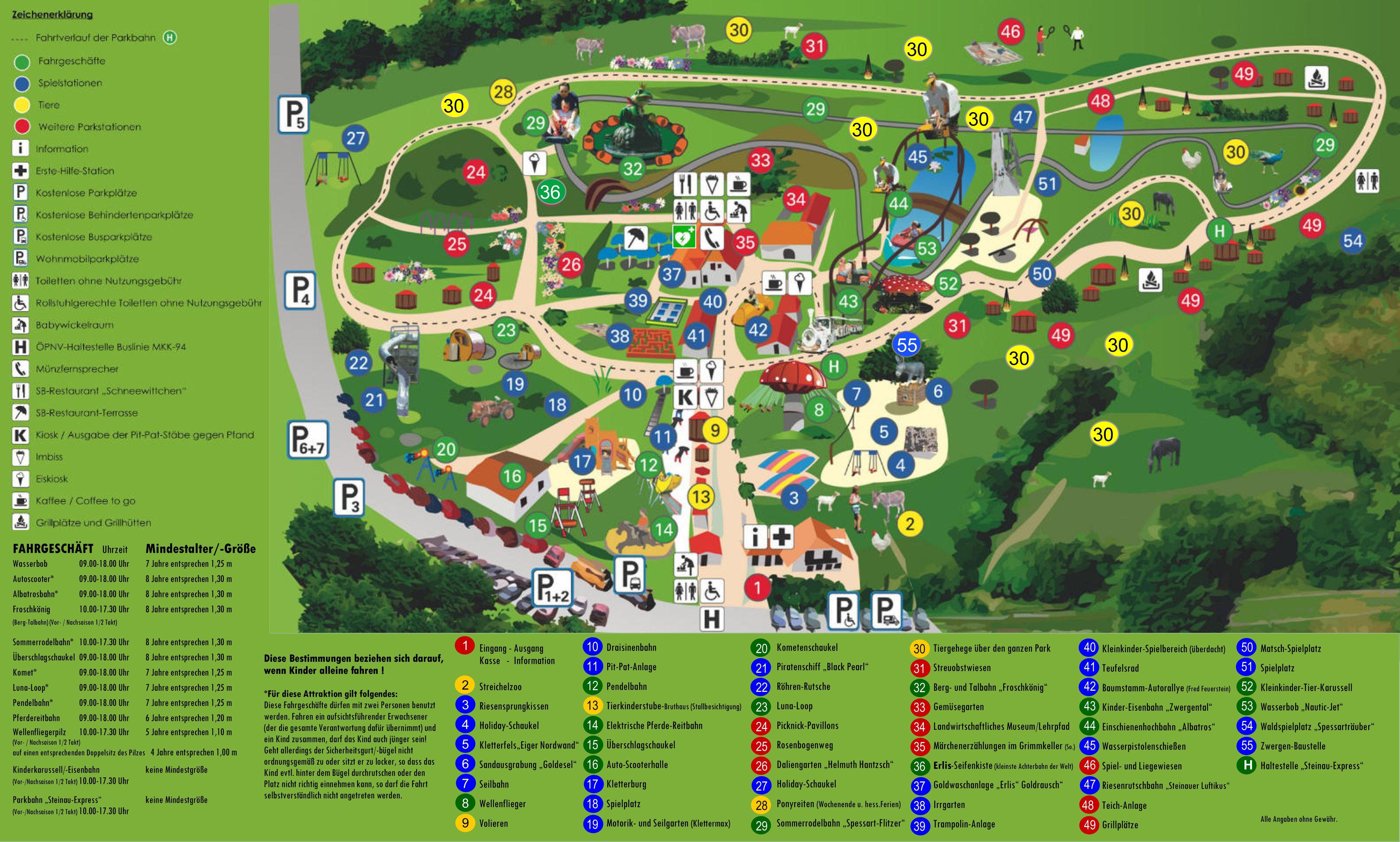 Parkplan Erlebnispark Steinau