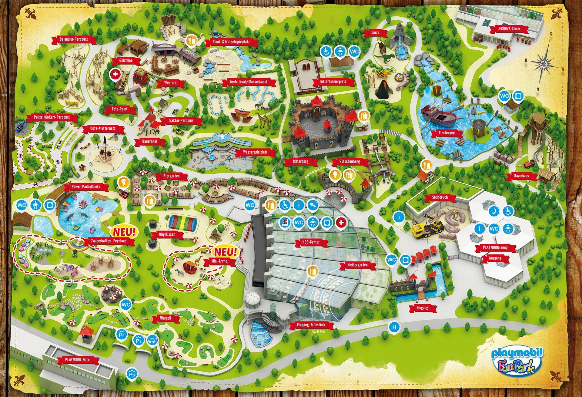 Parkplan Playmobil Funpark