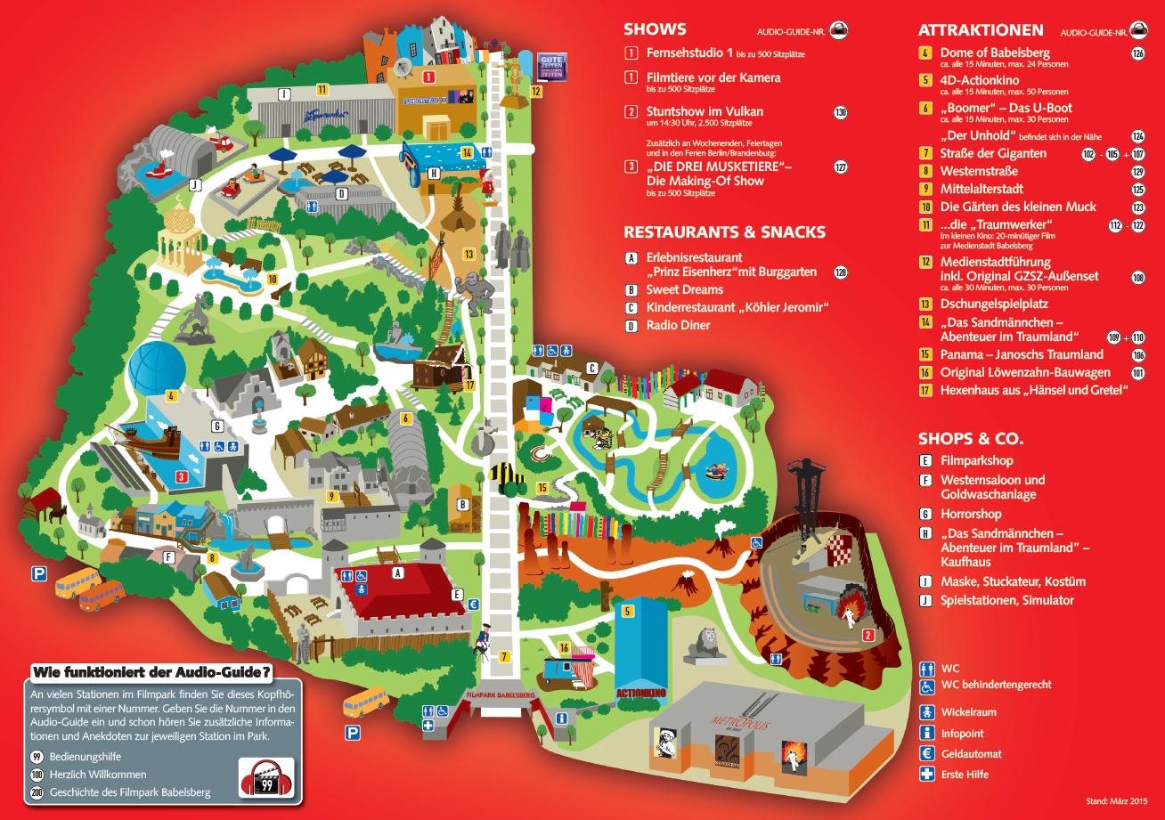 Parkplan Filmpark Babelsberg