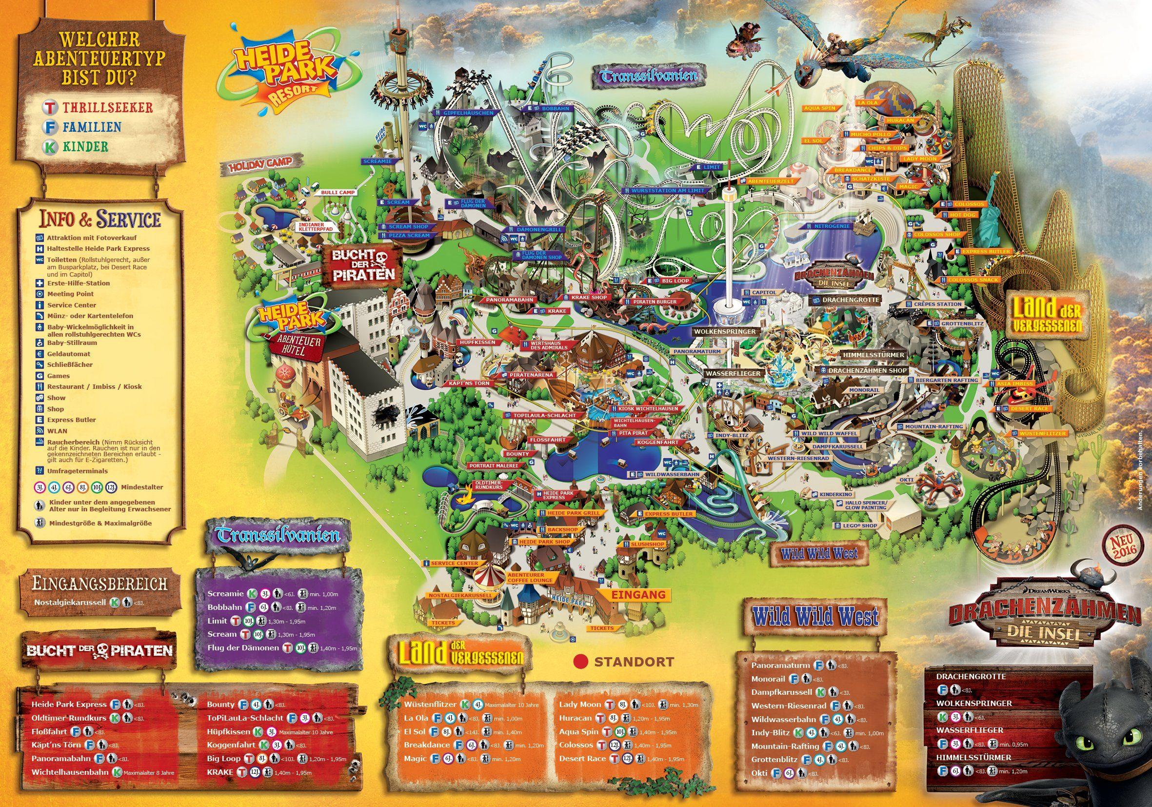 Parkplan Heide Park Resort