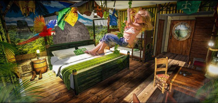 Foto: Heide Park Resort, Abenteuerhotel, Dschungelzimmer
