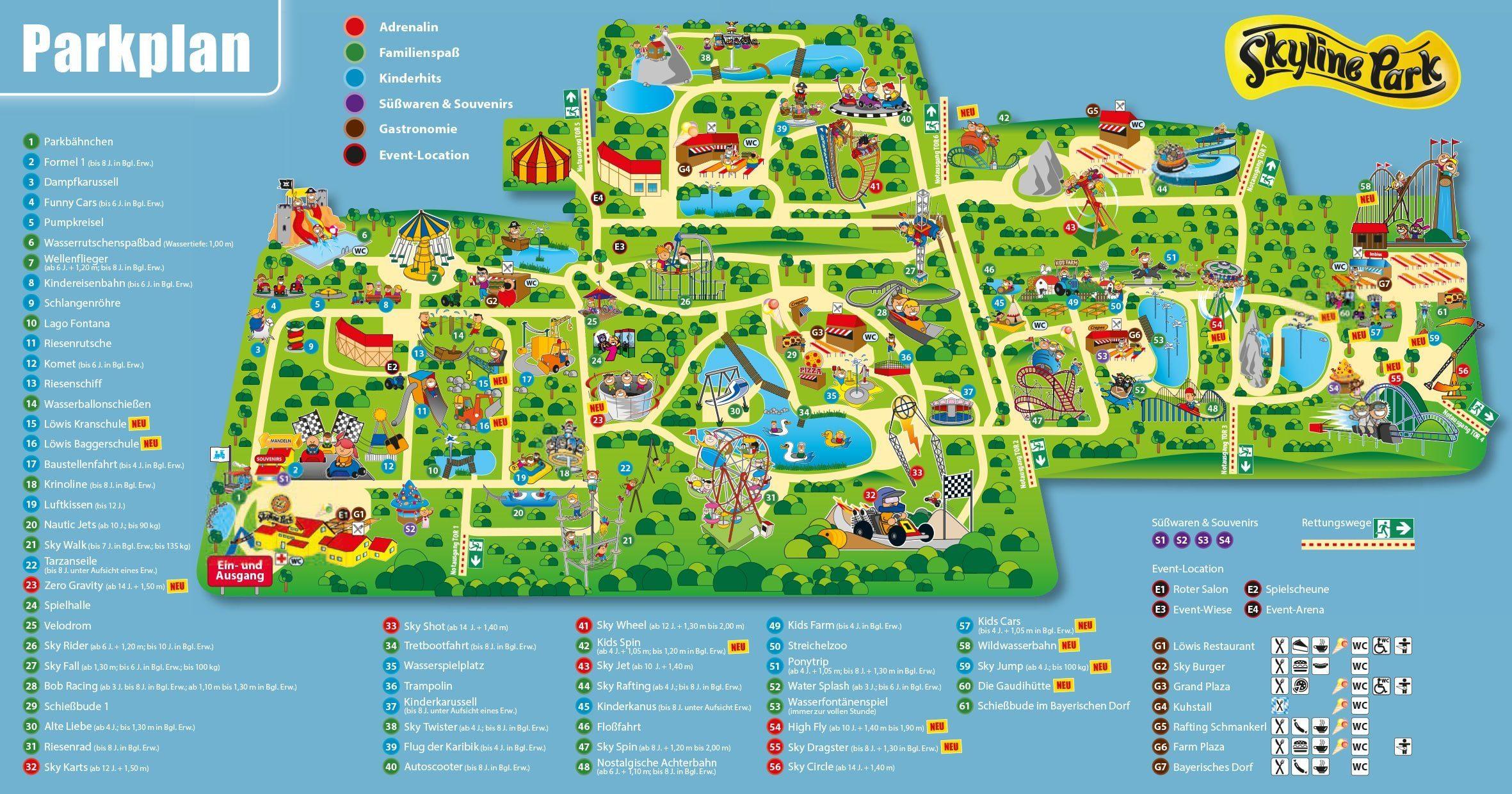 Parkplan Allgäu Skyline Park