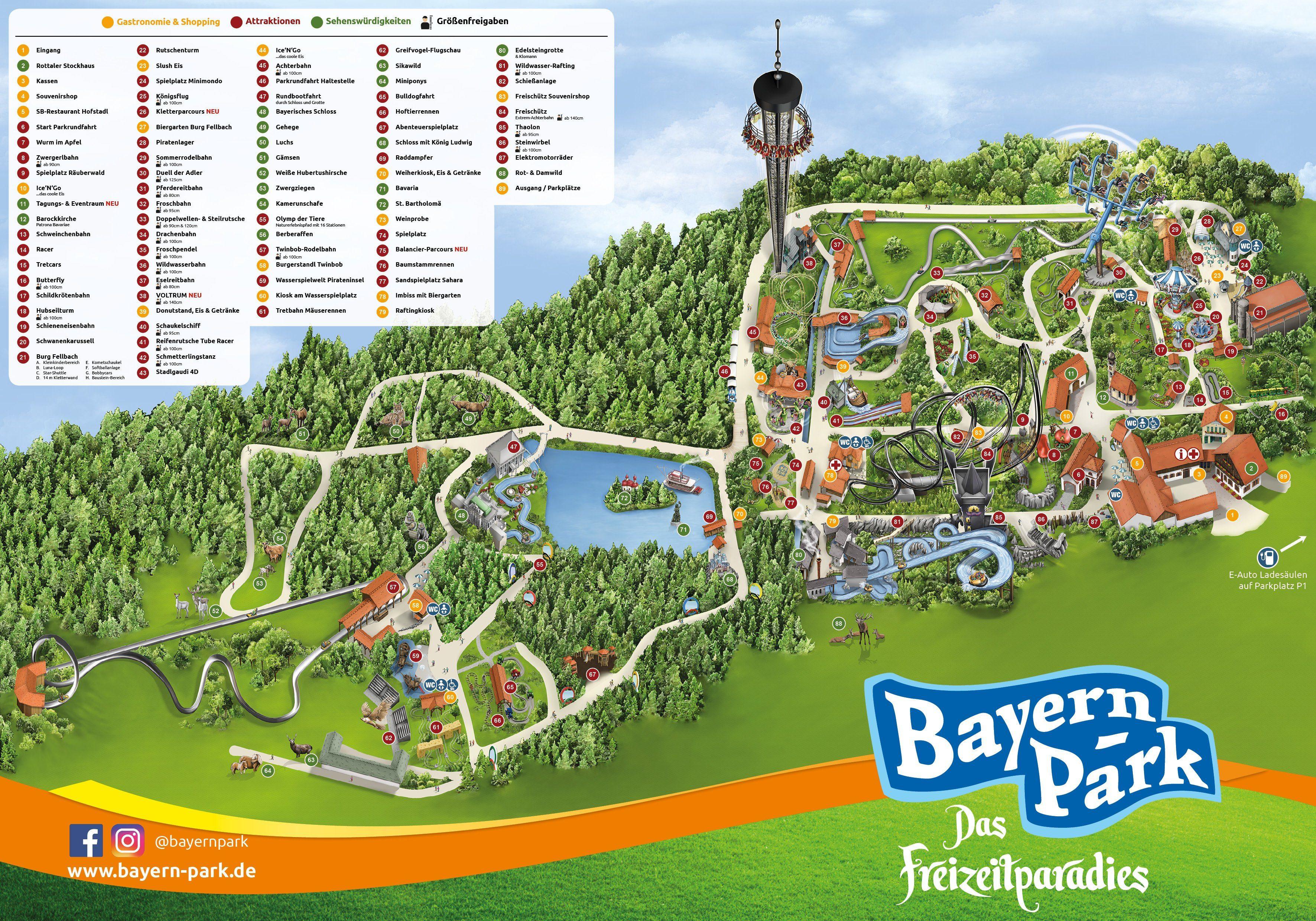 Parkplan Bayern Park