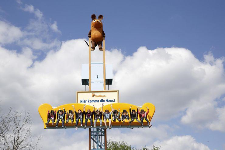 "Foto: Ravensburger Spieleland, Freifallturm ""Hier kommt die Maus"