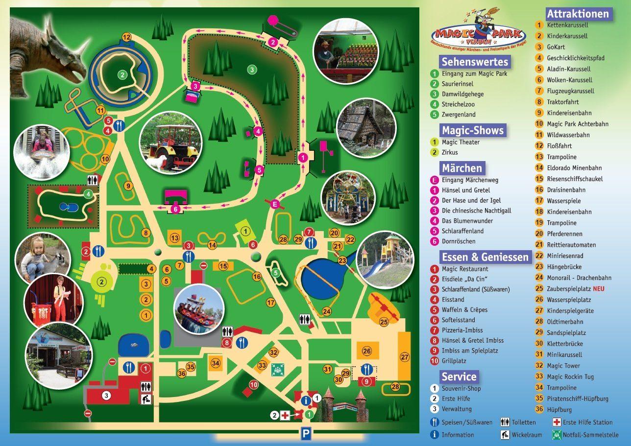 Parkplan Magic Park Verden
