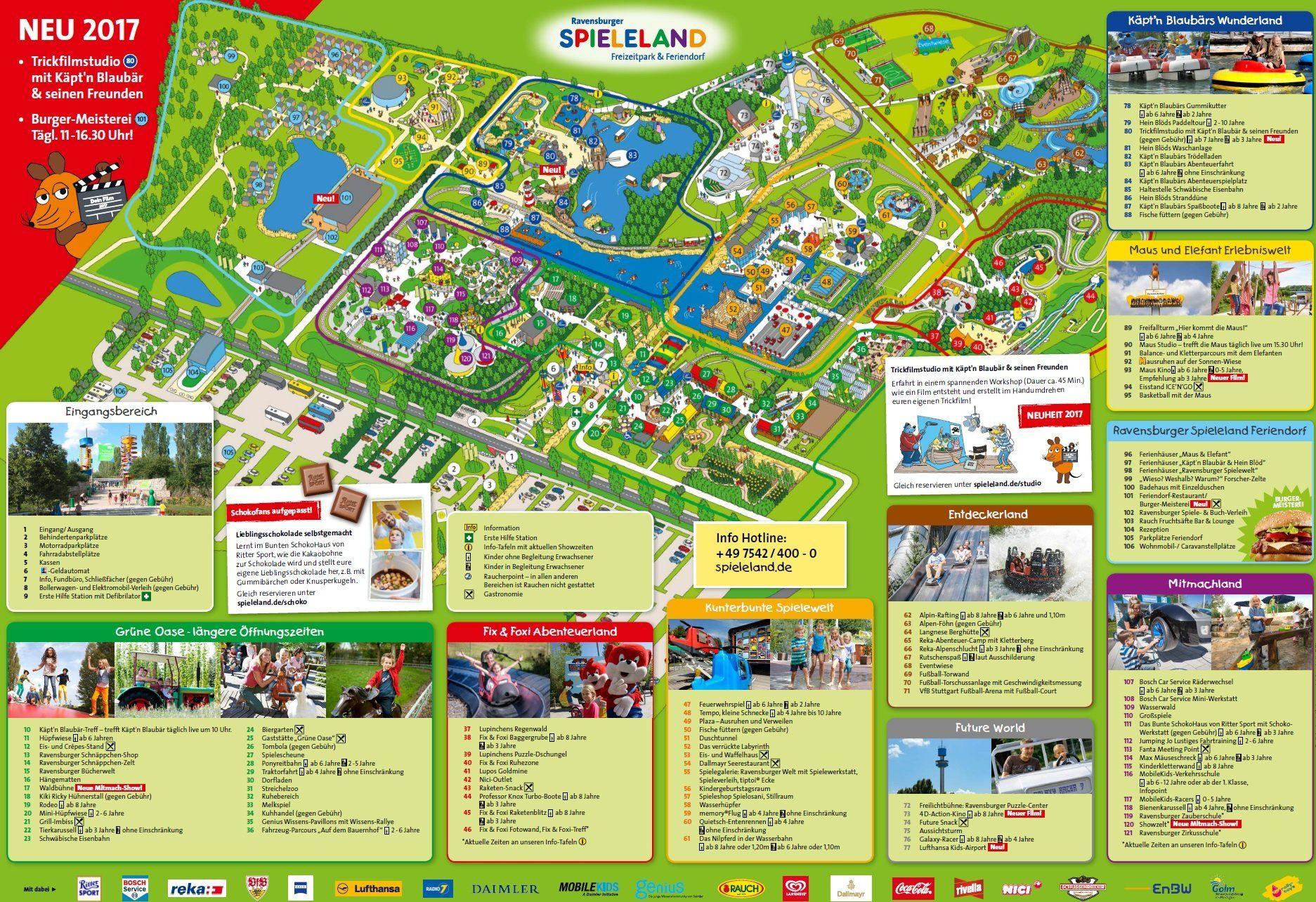 Parkplan Ravensburger Spieleland
