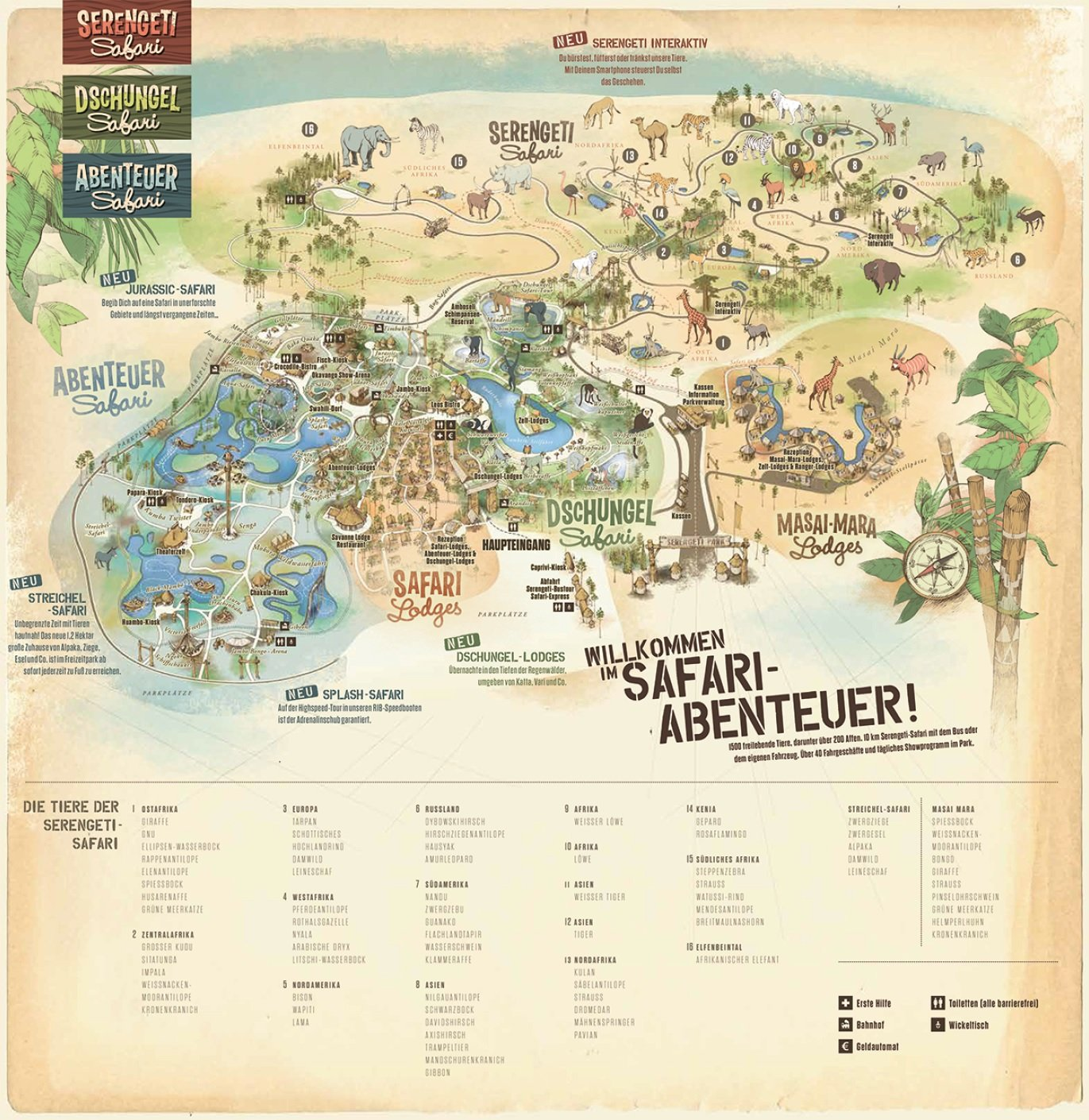 Parkplan Serengeti Park