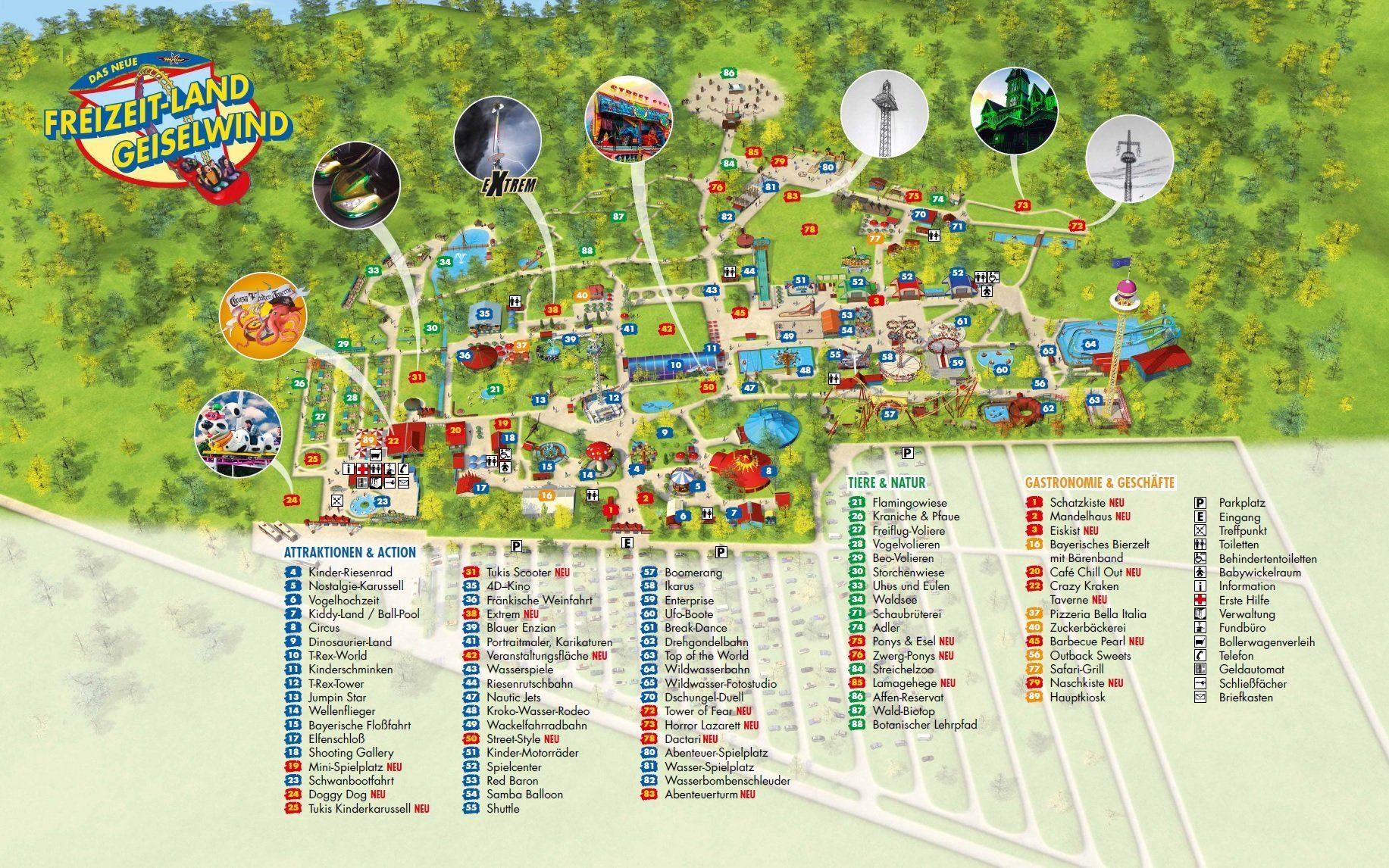 Parkplan Freizeit-Land Geiselwind