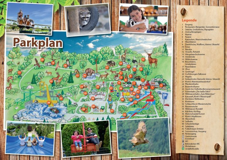 Parkplan Wild-und Freizeitpark Klotten