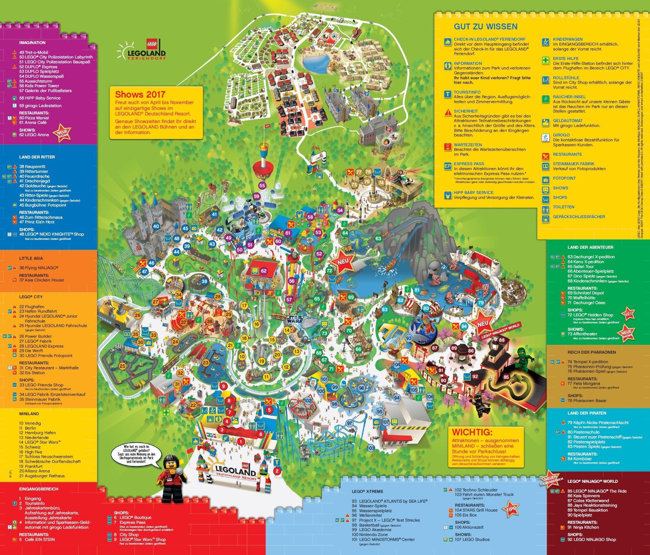Parkplan LEGOLAND® Deutschland Resort