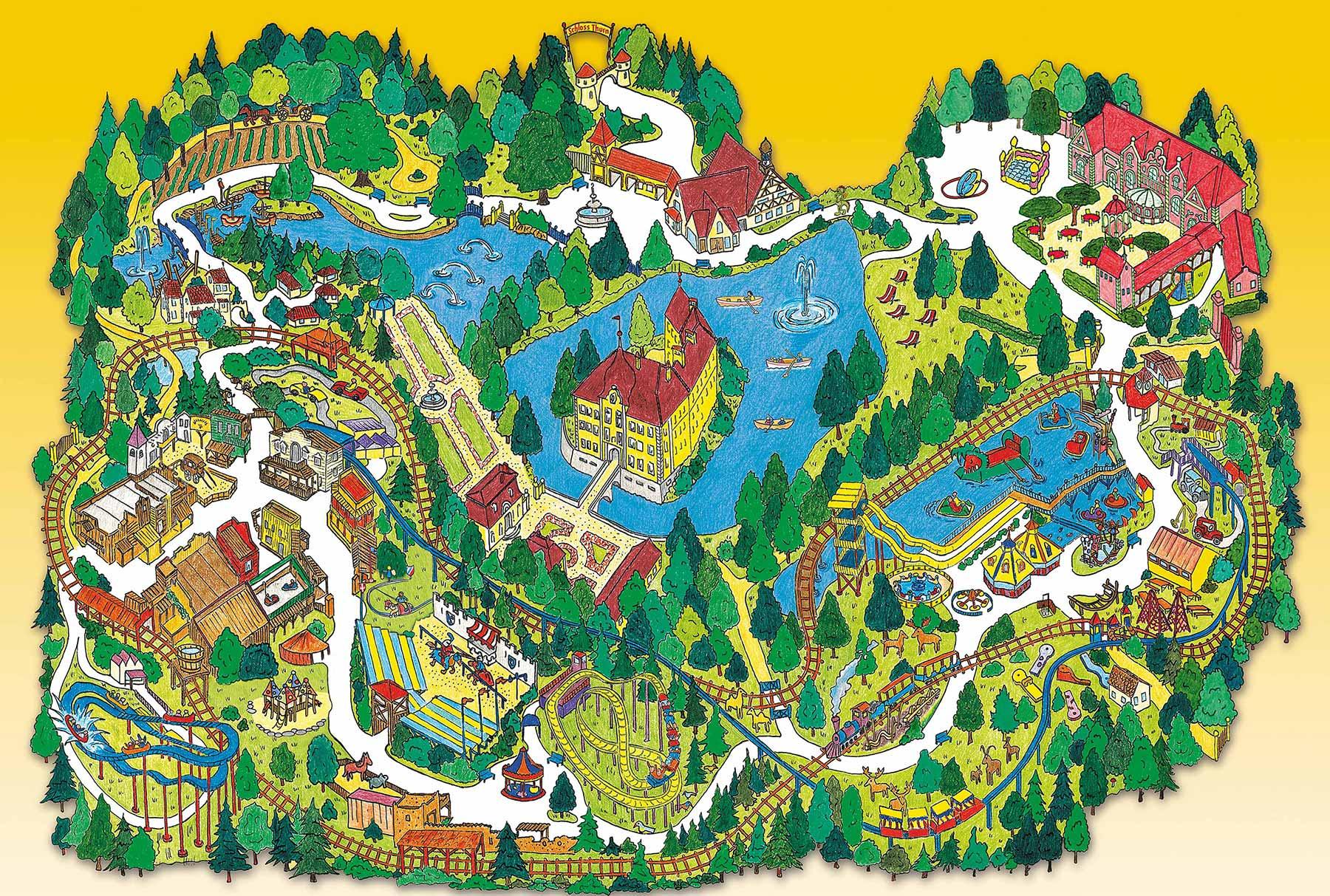 Parkplan Erlebnispark Schloss Thurn