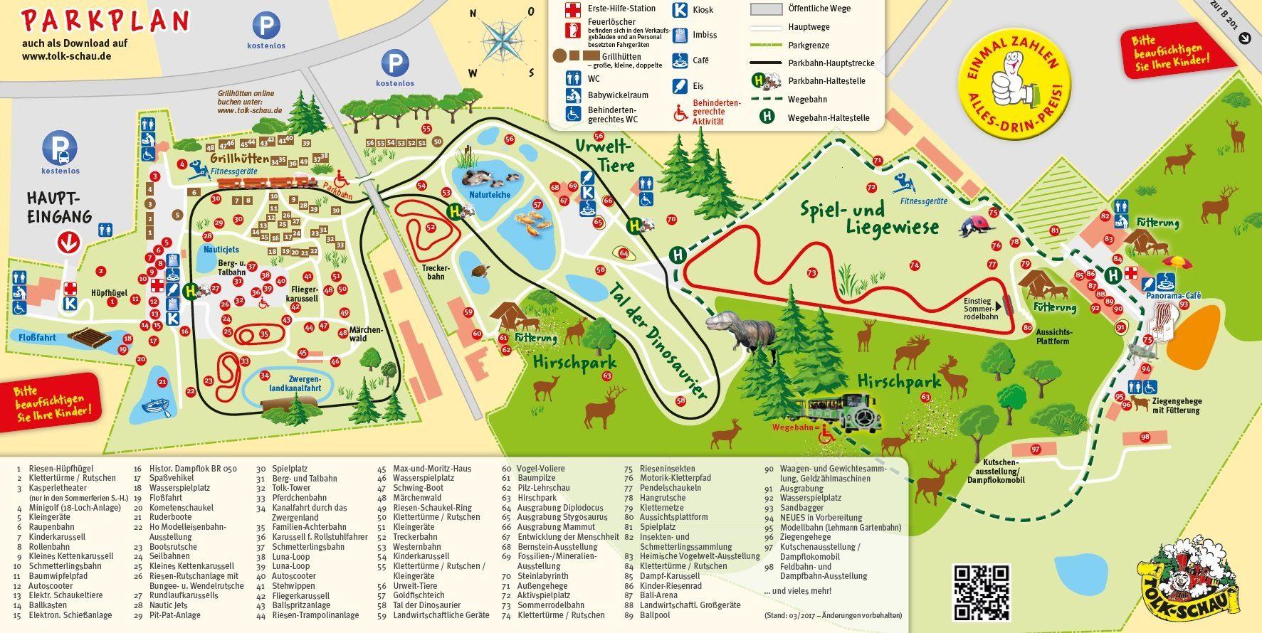 Parkplan Familien-Freizeitpark Tolk-Schau