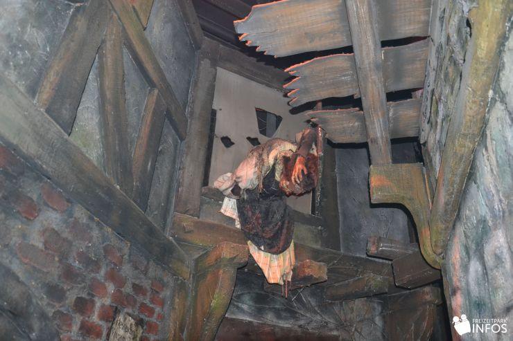 Foto: Freizeitparkinfos.de, Hamburg Dungeon, Hamburg brennt!