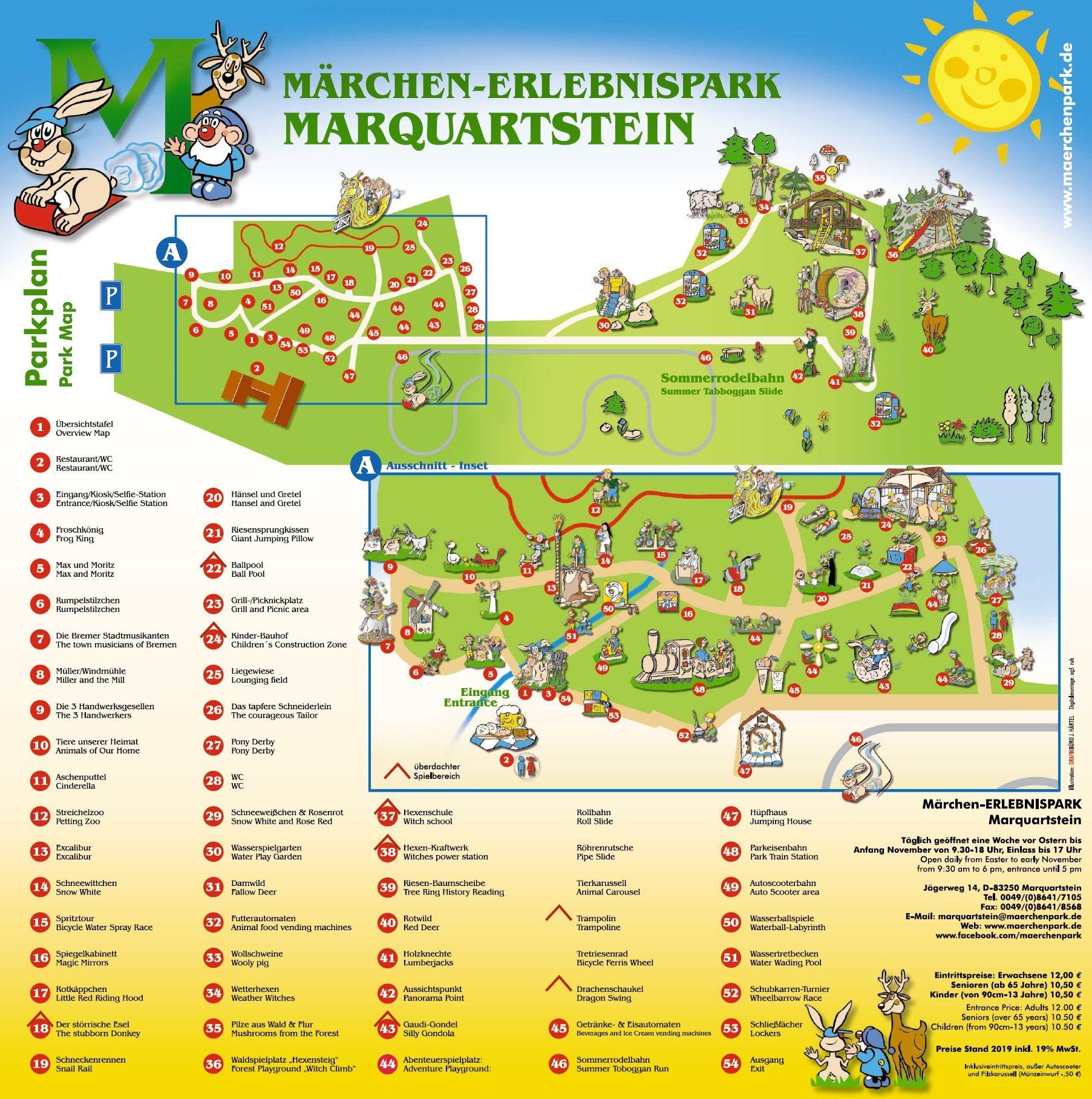 Parkplan Märchen-Erlebnispark Marquartstein