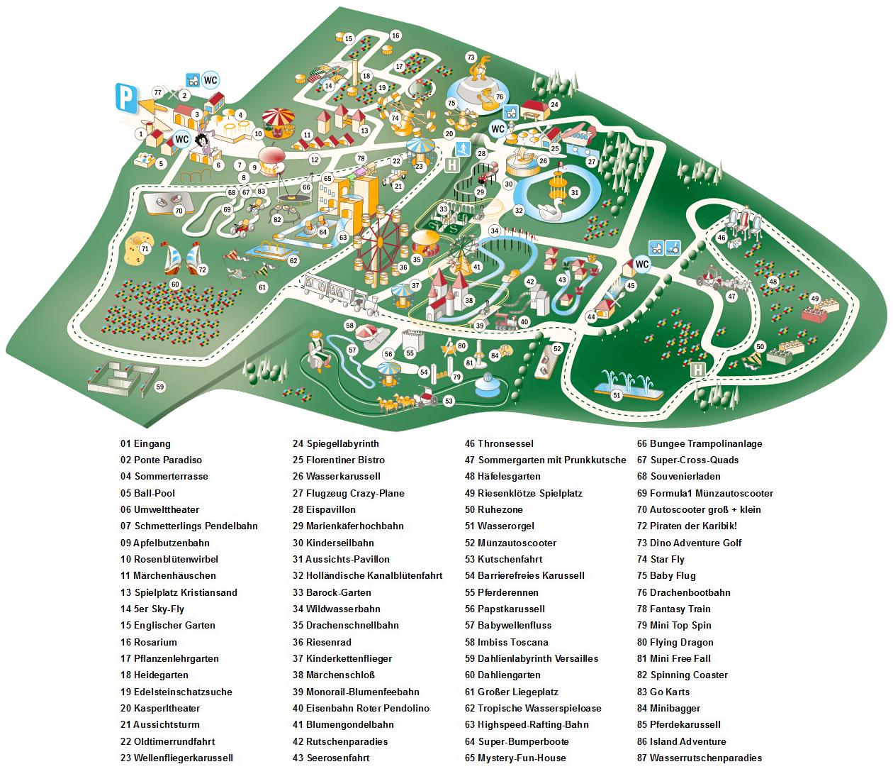 Parkplan Churpfalzpark