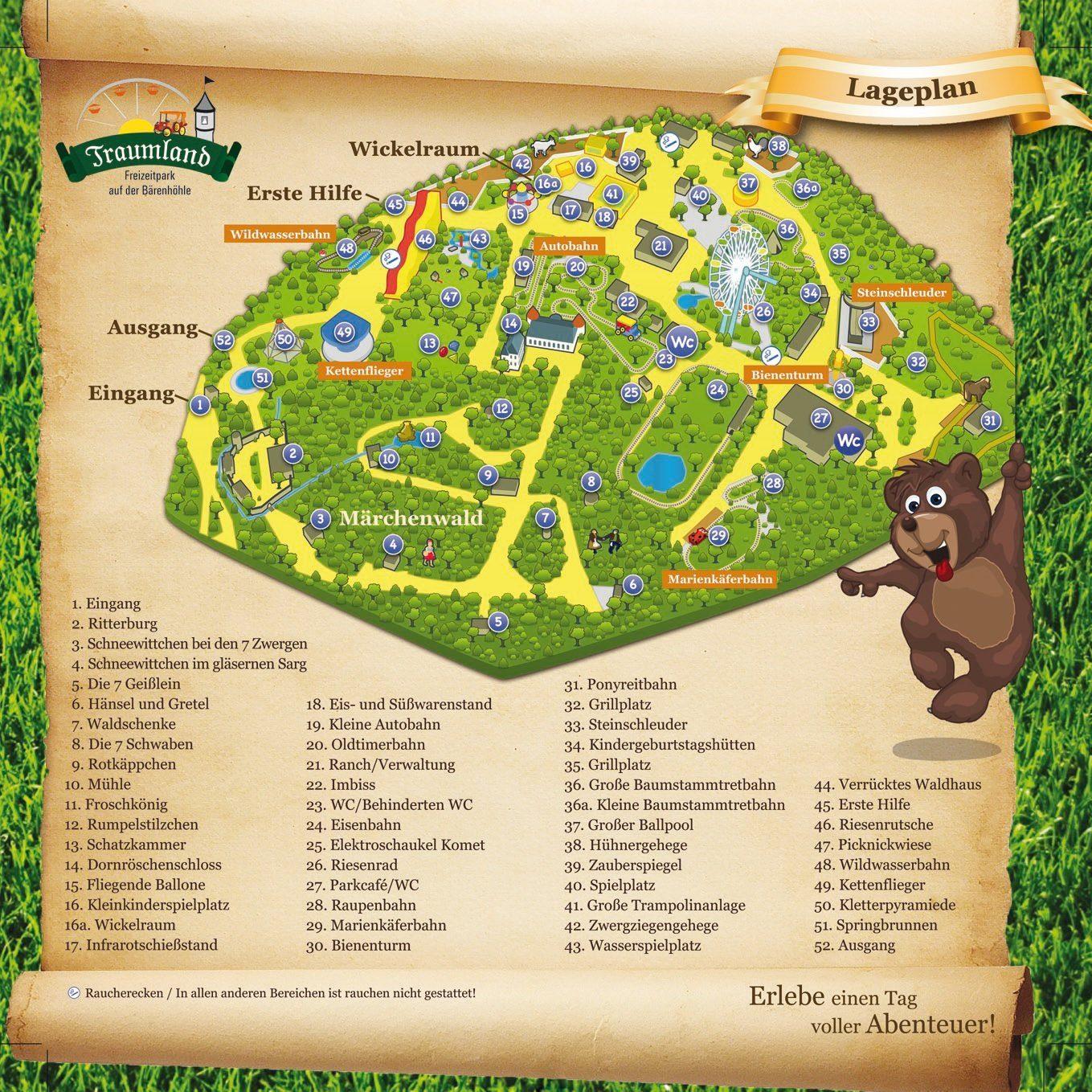 Parkplan Freizeitpark Traumland
