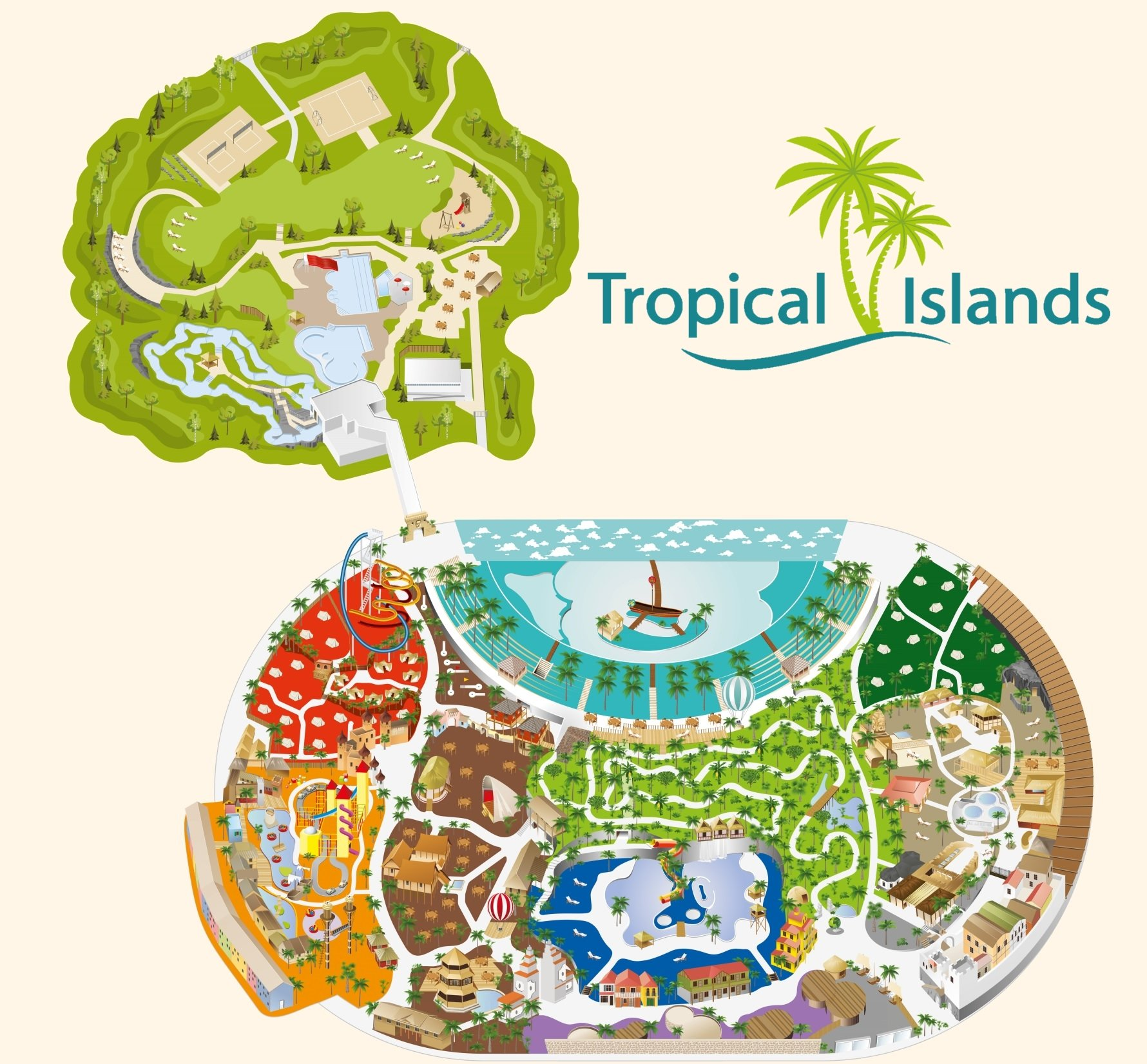 Parkplan Tropical Islands