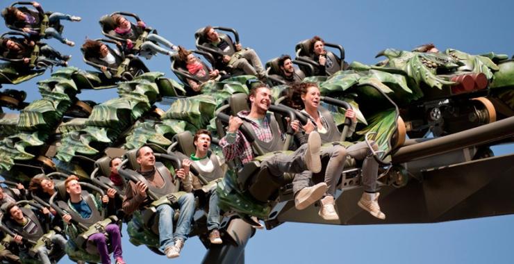 Foto: Gardaland, Wing Coaster – Raptor