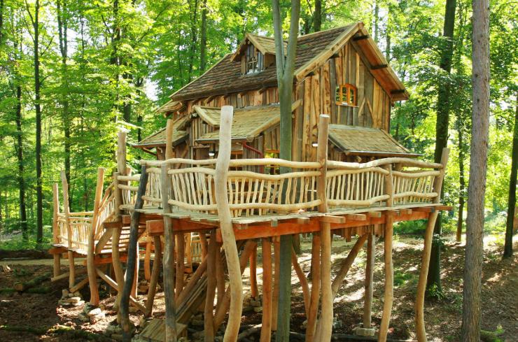 Foto: Erlebnispark Tripsdrill, Fast 100% Auslastung in den Baumhäusern