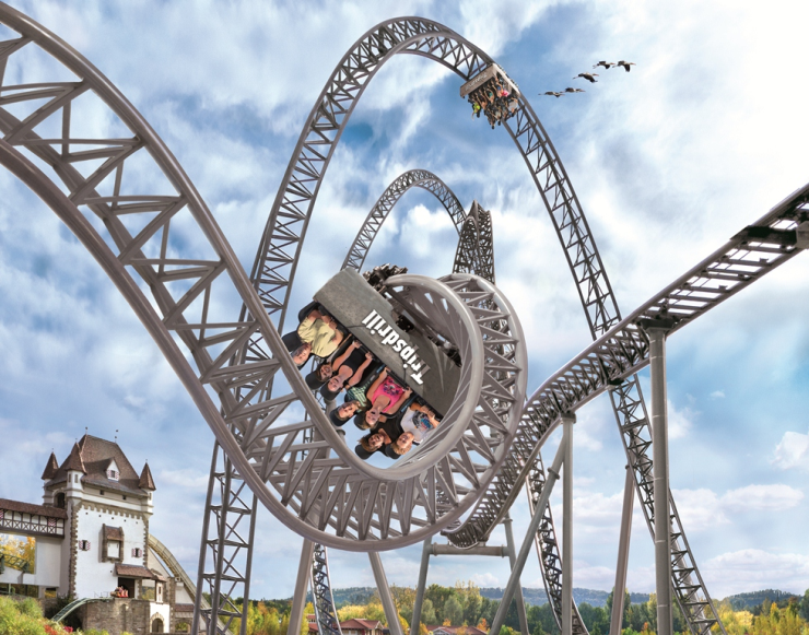 """Foto: Erlebnispark Tripsdrill, """"Karacho"""" - Tripsdriller Katapult-Achterbahn"""