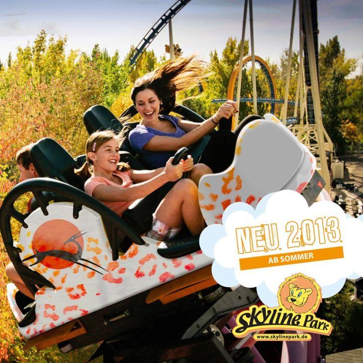 Foto: Skyline Park, Sky Spin - Die neue Achterbahn 2013