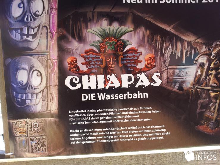 Foto: Freizeitparkinfos.de, Bau von CHIAPAS - DIE Wasserbahn 27./28. März 2013