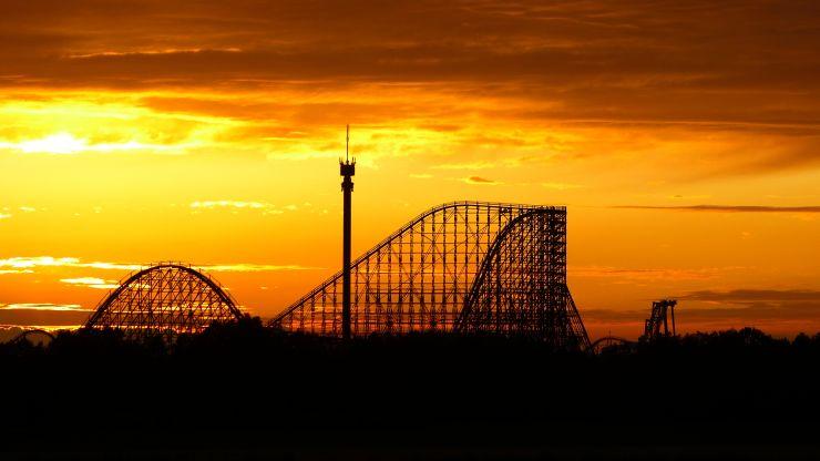 Foto: Heide Park Resort, Colossos Sonnenuntergang