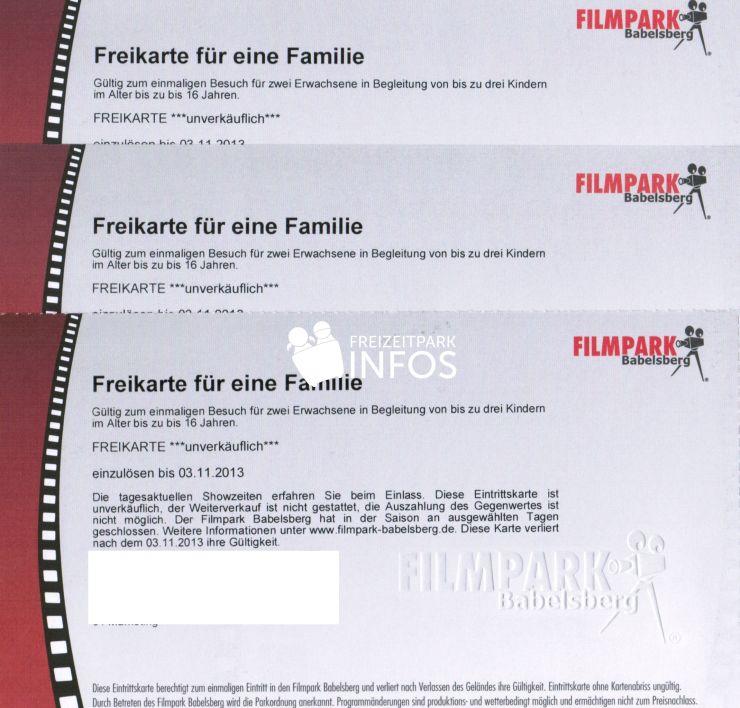 Freikarten Filmpark