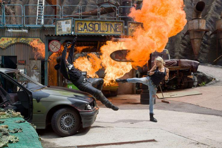 Foto: Filmpark Babelsberg, Stuntshow im Vulkan