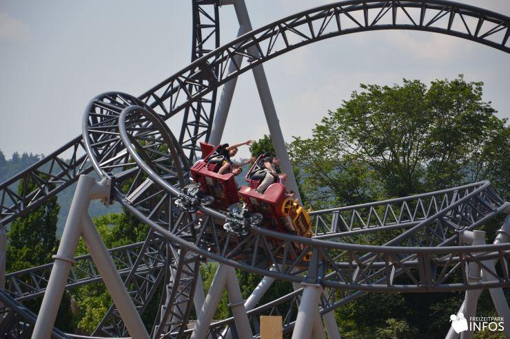 Foto: Freizeitparkinfos.de, Eröffnung von Karacho im Erlebnispark Tripsdrill am 10.07.2013