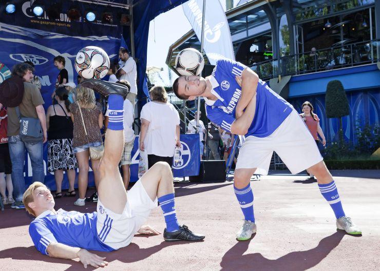 Foto: Europa-Park, Football-Freestyler beim GAZPROM Erlebnistag