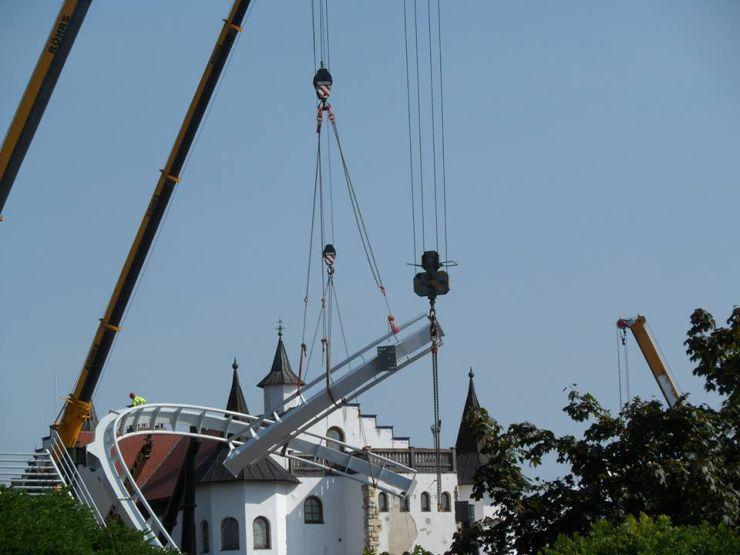 Foto: Fred Tesch, Wing Coaster Bauupdate - 22.08.2013