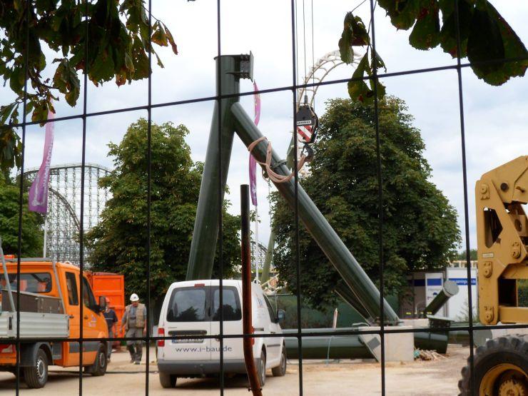 Foto: Fred Tesch, Wing Coaster Bauupdate – 27.08.2013