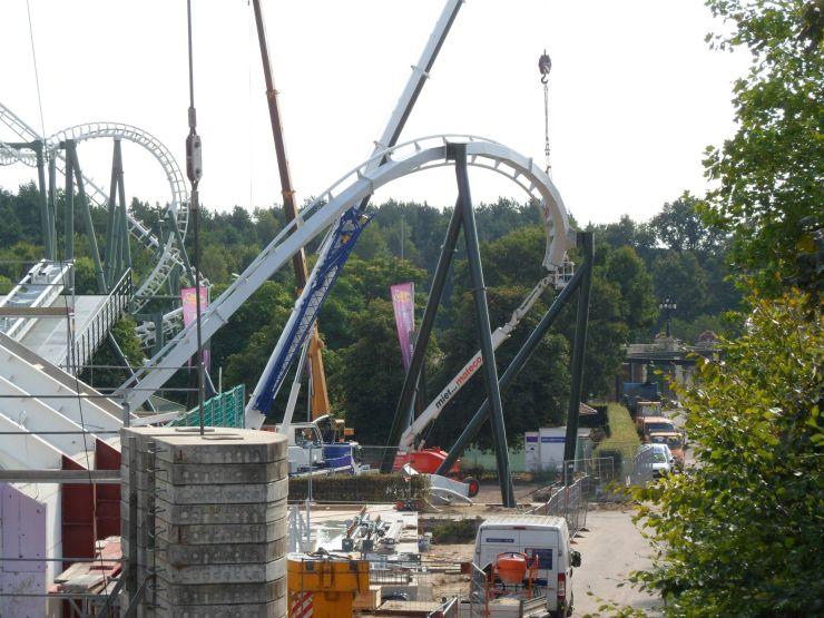 Foto: Fred Tesch, Wing Coaster Bauupdate – 29.08.2013