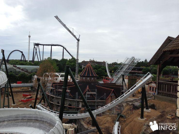 Foto: Freizeitparkinfos.de, Baubilder vom Wing Coaster für 2014, 18.08.2013