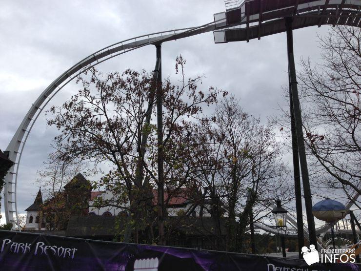 Foto: Freizeitparkinfos.de, Baubilder vom Wing Coaster für 2014, 26.10.2013