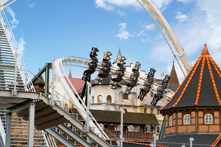 Foto: Heide Park Resort, Testflug des neuen Wing Coaster