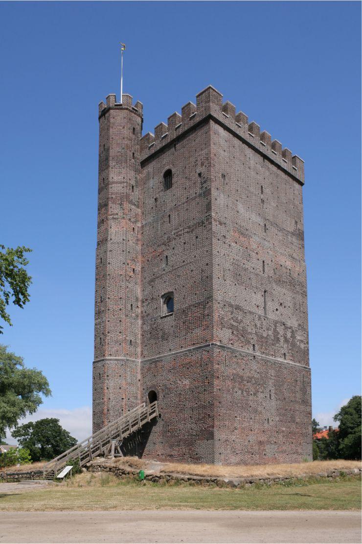Foto: Ikiwaner, Der Turm Kärnan in Helsingborg, Schweden