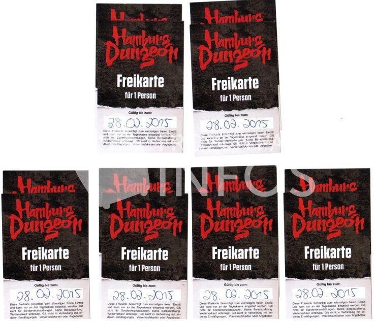 Hamburg Dungeon 6x2 Freikarten
