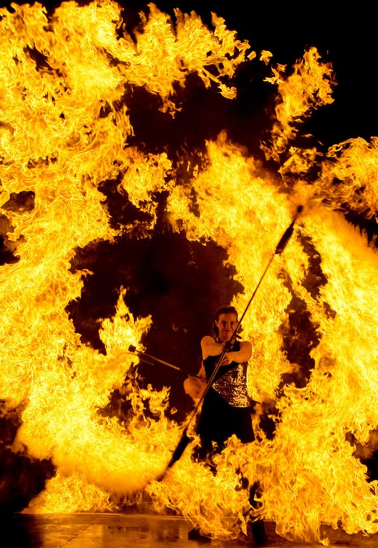 Foto: Legoland Deutschland, Feuer und Flamme bei den Langen Nächten
