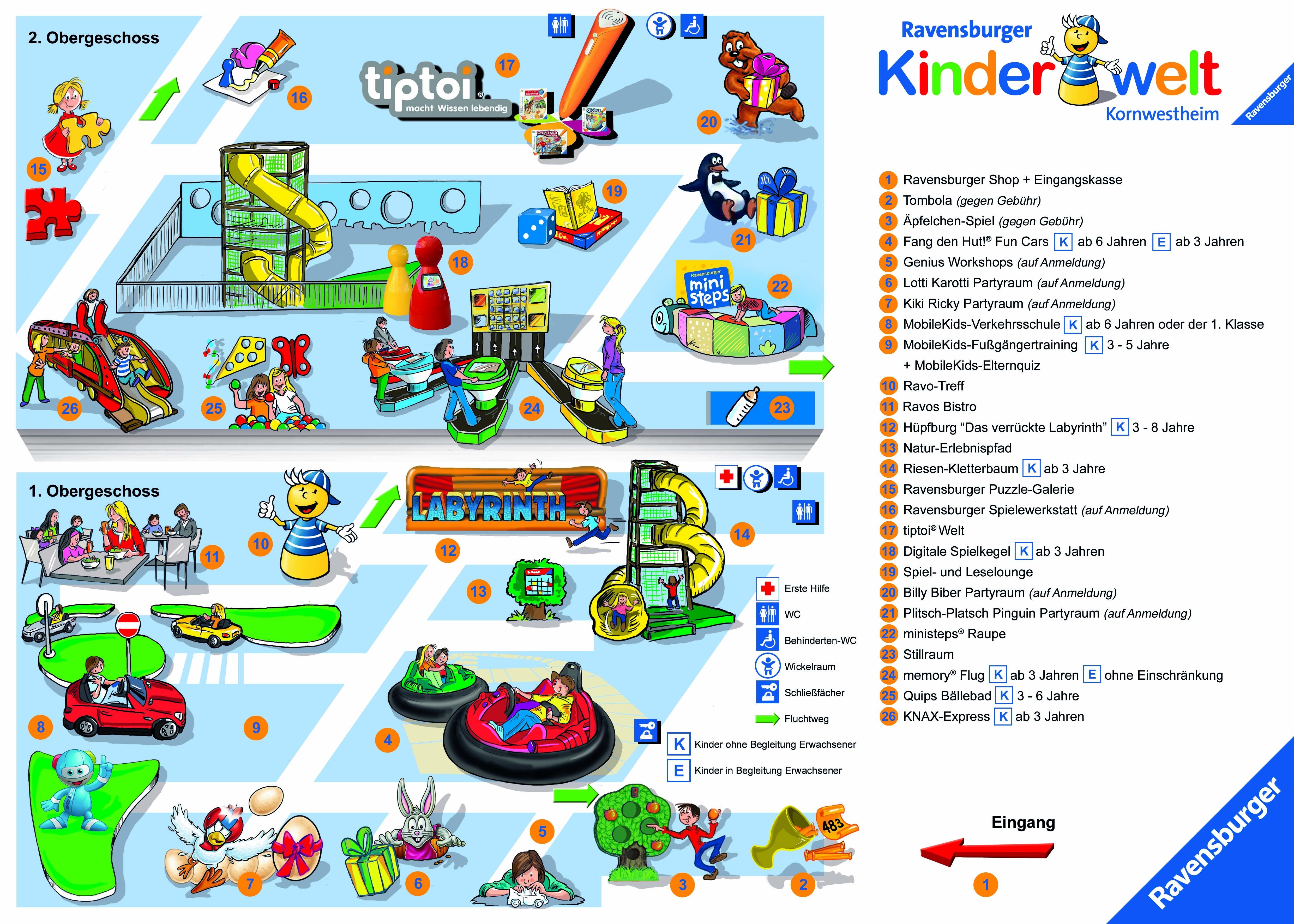 Parkplan Ravensburger Kinderwelt