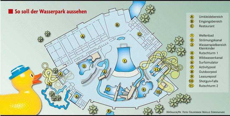 Foto: Colourbox / Europa-Park, So soll der Indoorbereich des Wasserparks aussehen.