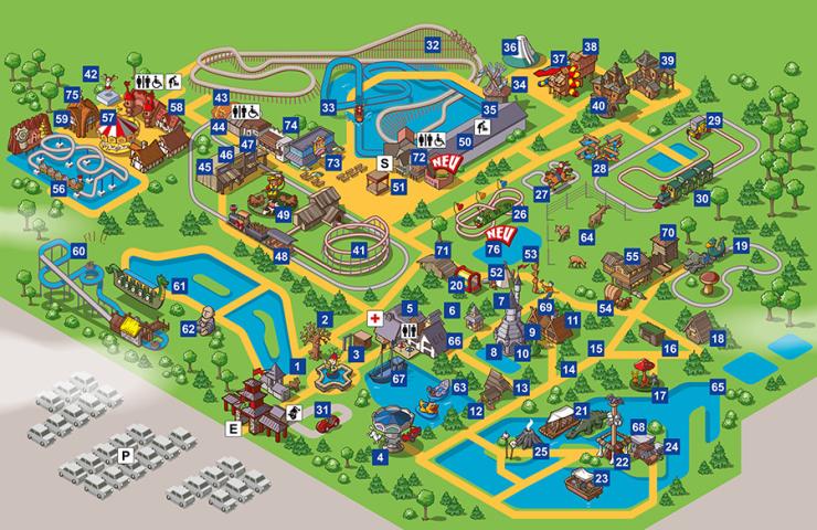 Foto: Freizeitpark Plohn, Lageplan 2015
