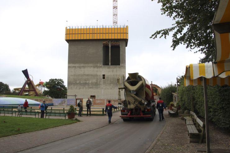 Foto: HANSA-PARK, Kärnan 2015, Bau-Update 31.08.2014