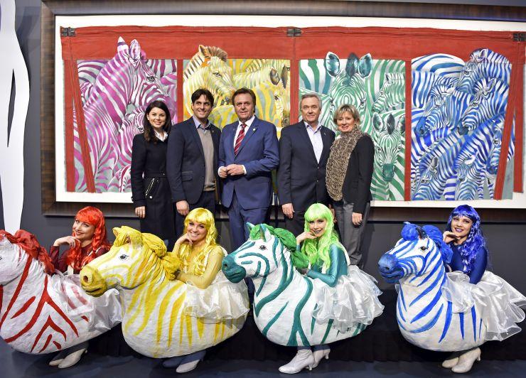 """Foto: Europa-Park, Familie Mack in der Rolf Knie Ausstellung """"Circus"""" in der Mercedes-Benz Hall"""