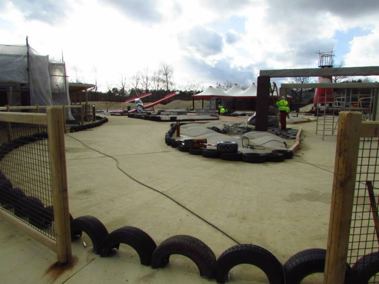 Foto: Heide Park Resort, Wüstenflitzer, Bau-Update 03.03.2015