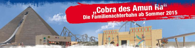 Foto: BELANTIS, Cobra des Amun Ra  - Neue Familienachterbahn 2015