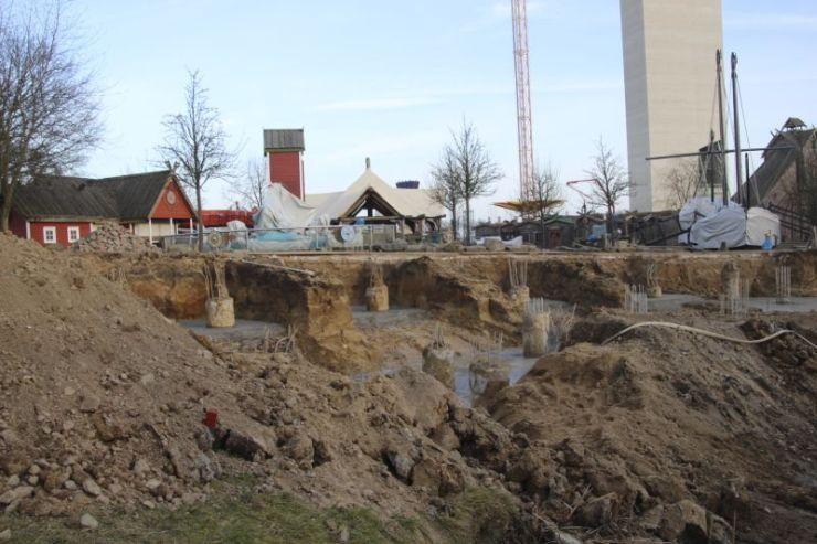 Foto: HANSA-PARK, Kärnan 2015, Bau-Update 18.02.2015